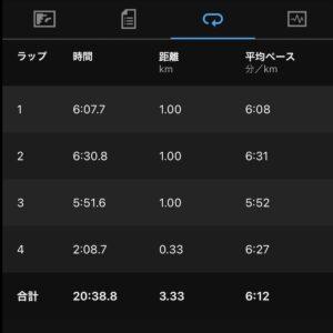 """7月19日(月)【3.33km(6'12"""")】"""