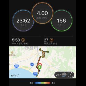 "7月9日(金)【4km(5'58"")】MAP"