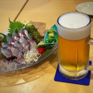 関アジとランチビール
