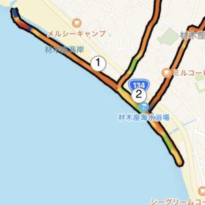 """7月11日(日)【3.15km(6'15"""")】MAP"""