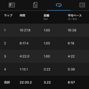 """7月25日(日)【3.22km(6'57"""")】"""