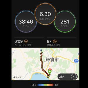 """7月7日(水)【6.3km(6'09"""")】MAP"""