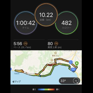 "7月23日(金)【10.22km(5'56"")】MAP"