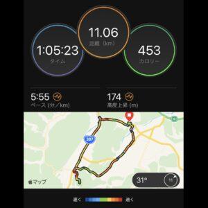 """7月27日(火)【11.06km(5'55"""")】MAP"""