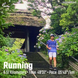 "7月6日(火)【8.51km(5'49"")】in東慶寺"