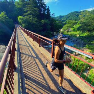"""7月22日(木)【5.02km(6'08"""")】in秋川渓谷の橋"""
