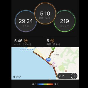"7月31日(土)【5.10km(5'46"")】MAP"