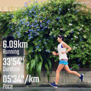 """8月13日(金)【6.09km(5'34"""")】in材木座5丁目"""