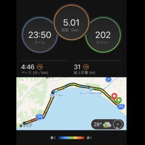 "8月28日(土)【5.01km(4'46"")】MAP"