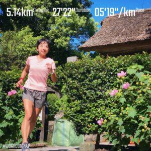 """8月20日(金)【5.14km(5'20"""")】in極楽寺"""