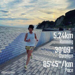 """8月22日(日)【5.24km(5'46"""")】in鎌倉海浜公園坂ノ下地区"""