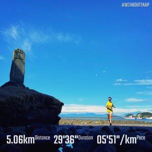 """8月19日(木)【5.06km(5'51"""")】in和賀江島"""