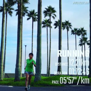 """8月17日(火)【12.21km(5'58"""")】in逗子マリーナ"""