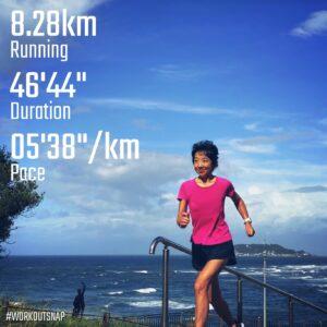 """8月18日(水)【8.28km(5'39"""")】in稲村ヶ崎公園"""