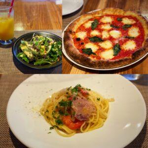 最後のpicは昨日、五日市の古民家イタリアン「クイント」で食べたピザとパスタ🍝