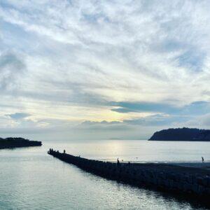 逗子海岸の渚橋