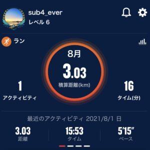 8月の走行距離