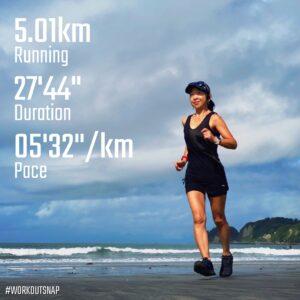 "8月3日(火)【5.01km(5'32"")】in材木座海岸"