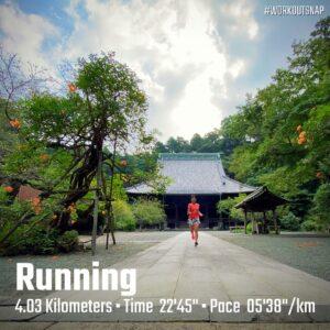 """8月24日(火)【4.03km(5'39"""")】in妙本寺"""