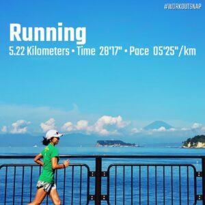 """8月2日(月)【5.22km(5'25"""")】in逗子マリーナ"""
