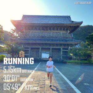 """8月27日(金)【5.15km(5'50"""")】"""