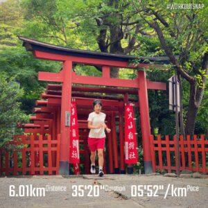 """8月31日(火)【6.01km(5'53"""")】in丸山稲荷社"""
