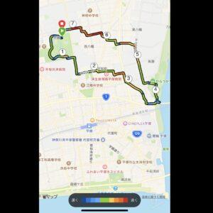 """9月5日(日)【7.21km(5'31"""")】MAPのみ"""
