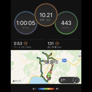 "9月11日(土)【10.21km(5'53"")】MAP"