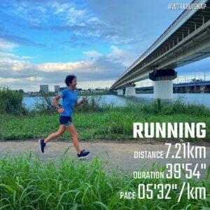 """9月5日(日)【7.21km(5'31"""")】"""