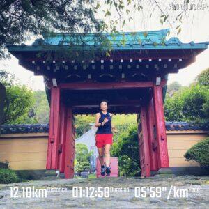 """9月22日(水)【12.18km(5'59"""")】in光則寺"""