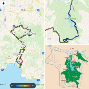 """9月16日(木)【15.31km(6'11"""")】散在ガ池森林公園MAP"""