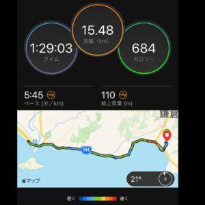 "9月17日(金)【15.48km(5'45"")】MAP"