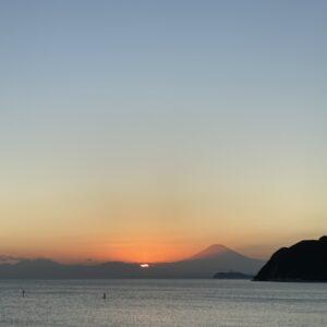 逗子海岸の夕陽