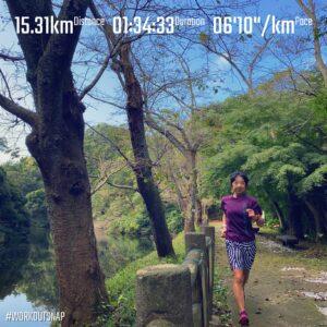 """9月16日(木)【15.31km(6'11"""")】in散在ガ池森林公園"""
