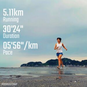 """9月1日(水)【5.11km(5'57"""")】"""