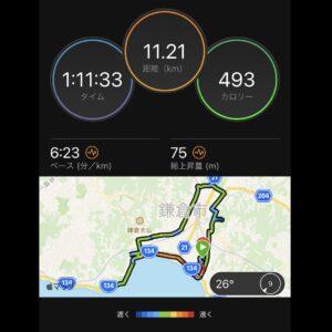 "9月24日(金)【11.21km(6'23"")】MAP"