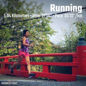 """9月13日(月)【5.04km(5'33"""")】in琴弾橋"""