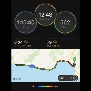 "9月18日(土)【12.48km(6'04"")】MAP"
