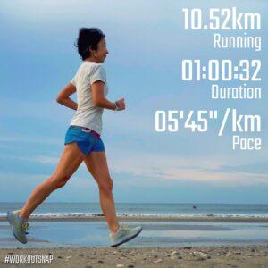 "9月15日(水)【10.52km(5'45"")】in材木座海岸"