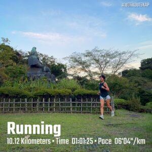 """9月10日(金)【10.12km(6'04"""")】in源氏山公園"""