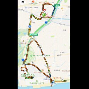 """9月23日(木)【8.01km(6'13"""")】MAP2"""