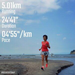 """9月25日(土)【5.01km(4'56"""")】in由比ヶ浜"""