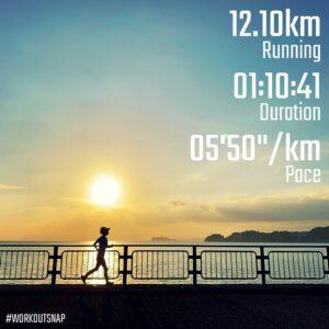 """9月28日(火)【12.10km(5'51"""") 】in逗子マリーナ"""