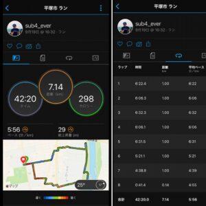 """9月19日(日)【7.14km(5'56"""")】"""
