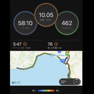"""9月9日(木)【10.05km(5'47"""")】MAP"""