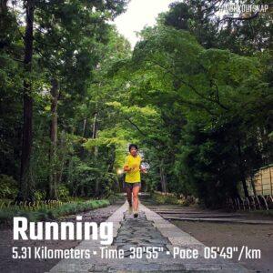 """9月3日(金)【5.31km(5'49"""")】in寿福寺"""
