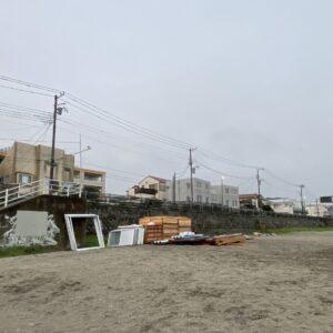 材木座海岸の監視所も解体