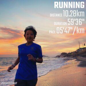 """10月5日(火)【10.28km(5'48"""")】in稲村ヶ崎"""