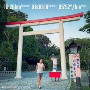 """10月4日(月)【10.26km(5'53"""")】in鎌倉宮"""