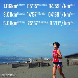 """10月3日(日)【9.06km(5'07"""")】in鵠沼海岸"""